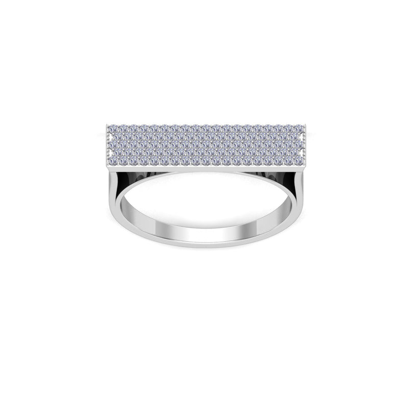 Pave Bar Ring