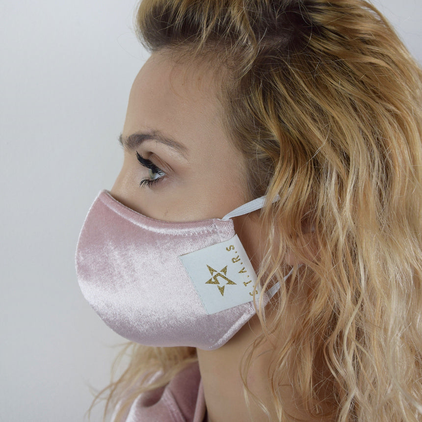 Pink Velour Mask S.T.A.R.S