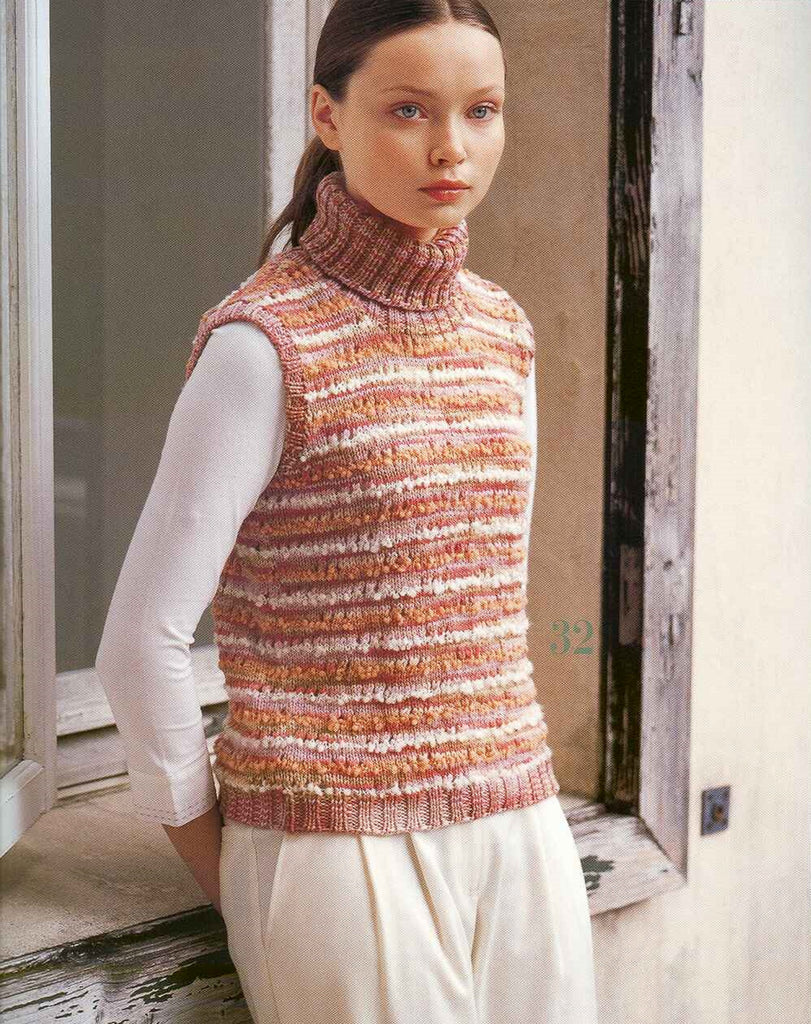 Casual vest easy quick knitting pattern - JPCrochet