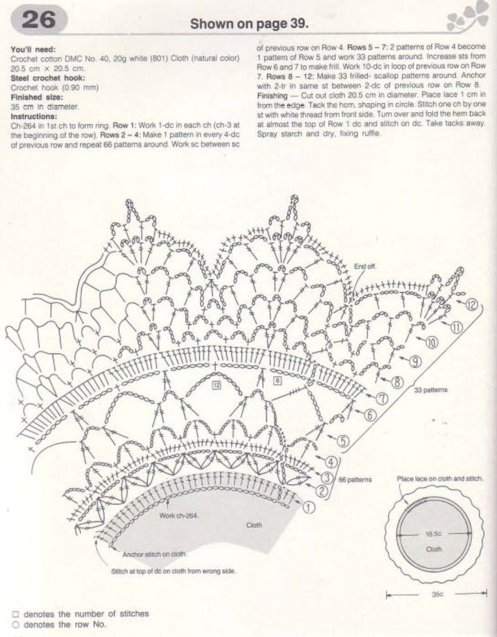 Easy crochet doily pattern - JPCrochet
