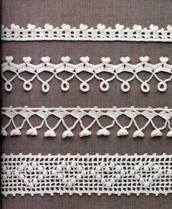 Filet crochet lace pattern