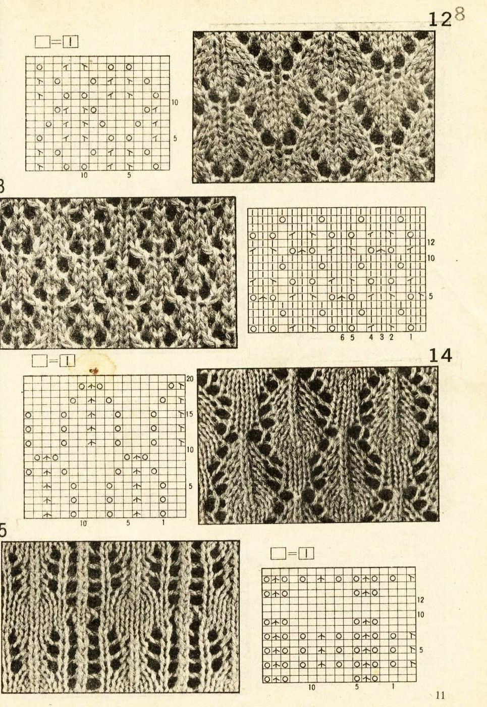 Easy knitting lace patterns