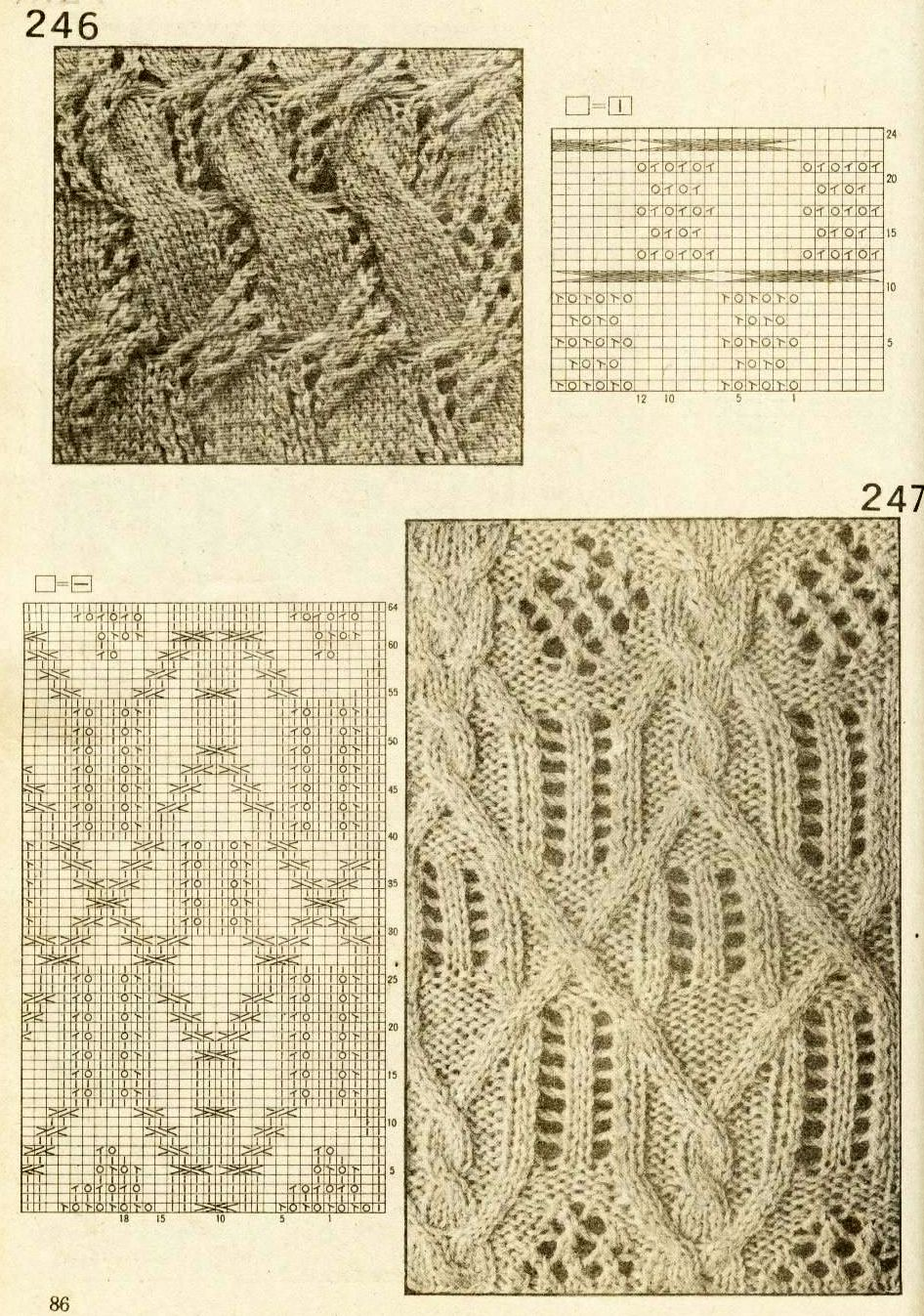 Cable knitting patterns
