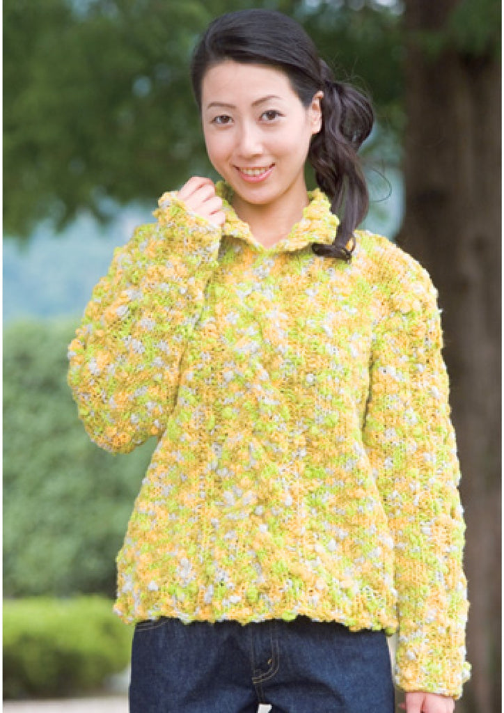 Chunky yarn pullover knitting pattern - JPCrochet