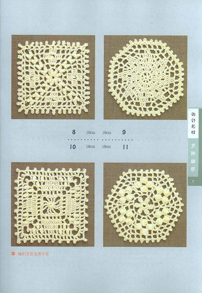 Easy crochet small doily, edgings and braid patterns