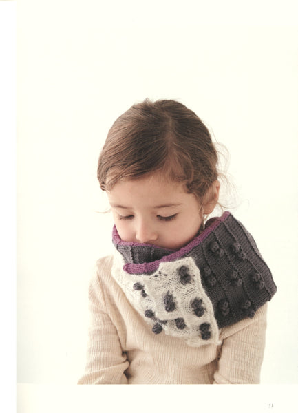 Girls easy knit cowl and mittens
