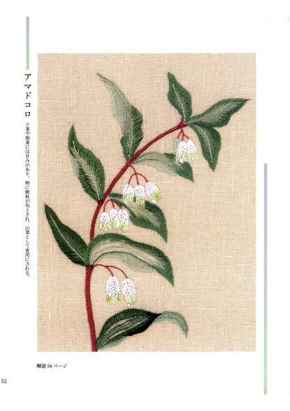 Wild flower and plant stitch embroidery