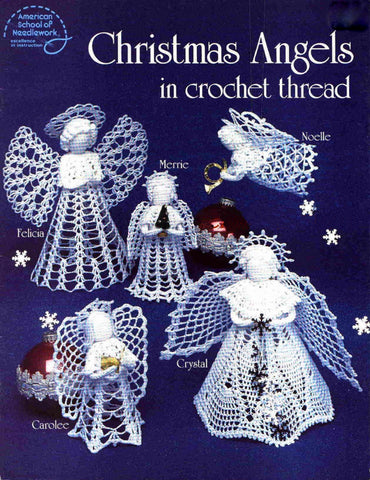 Crochet christmas ornaments patterns cute angel