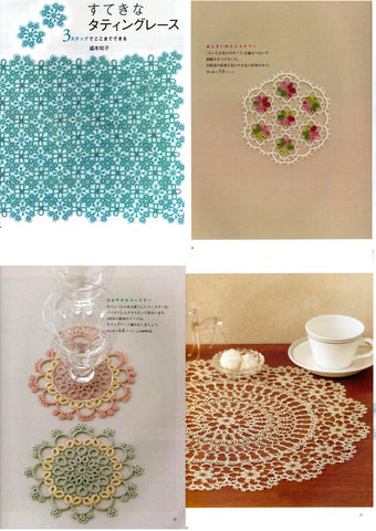 Lovely tatting lace patterns