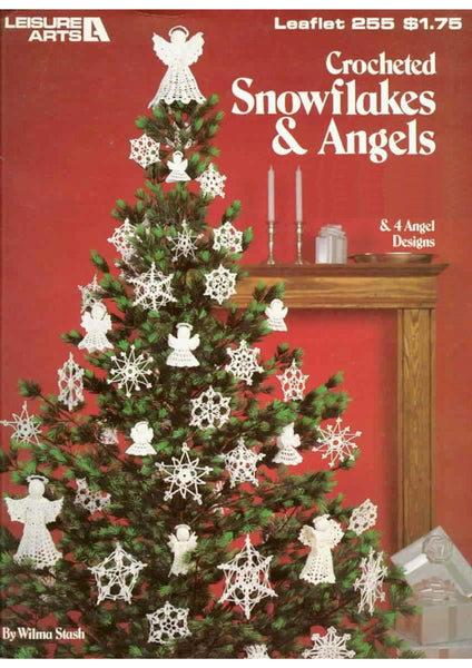 Easy crochet snowflake patterns and 4 Angels designs