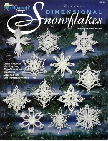 Christmas crochet snowflake patterns 12 beautiful designs