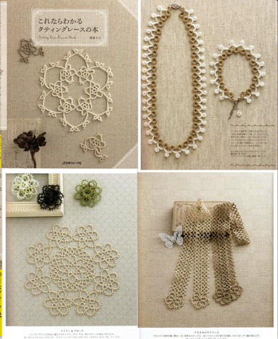 Elegant tatting lace patterns and designs