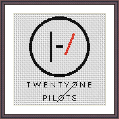 21 Pilots cross stitch pattern