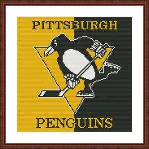 Pittsburgh Penguins cross stitch pattern