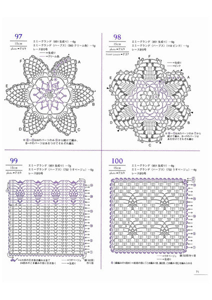 Pineapple crochet pattern 100 designs