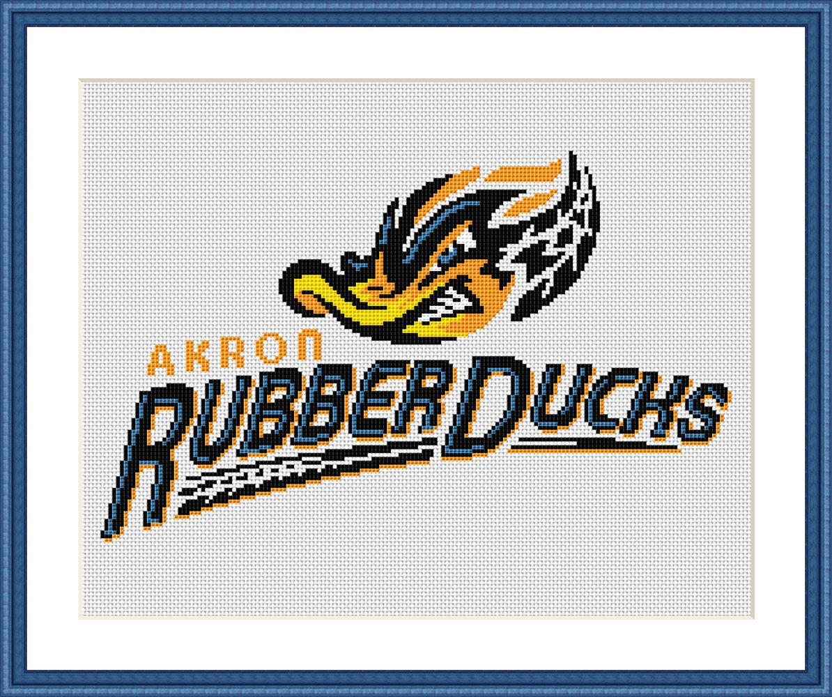 Akron RubberDucks cross stitch pattern