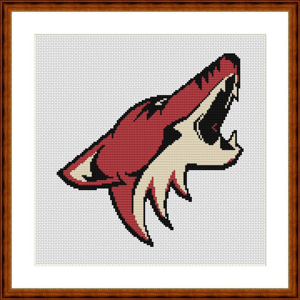 Arizona Coyotes cross stitch