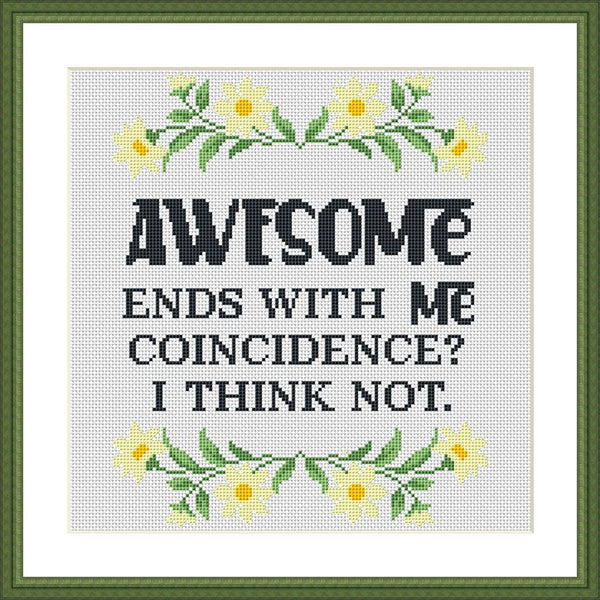 Awesome ends with ME funny cross stitch pattern - Tango Stitch