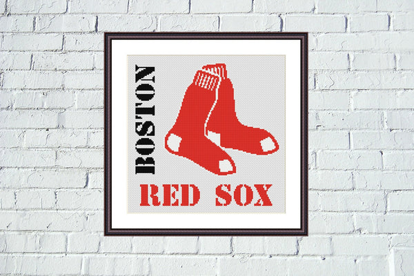 Boston Red Sox cross stitch pattern