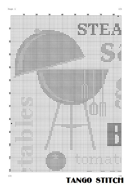 Barbecue kitchen cross stitch pattern, Tango Stitch