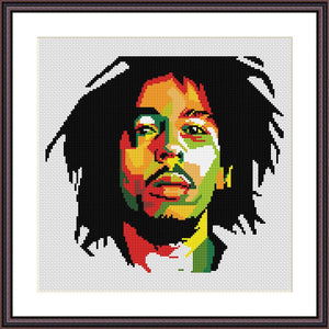 Bob Marley cross stitch pattern - JPCrochet