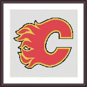 Calgary Flames cross stitch pattern