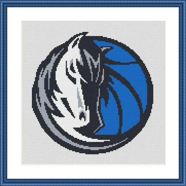 Dallas Mavericks simple embroidery stitches