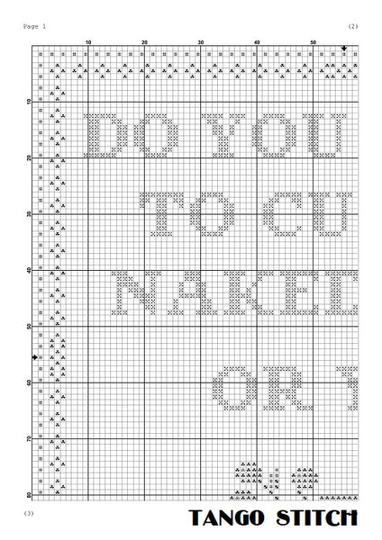 Do you want to cuddle funny romantic cross stitch pattern