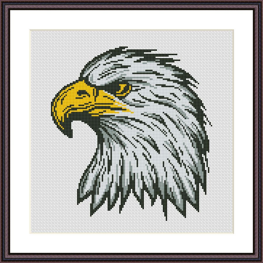 Eagle animal cross stitch pattern
