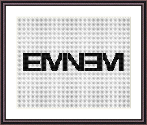Eminem cross stitch pattern