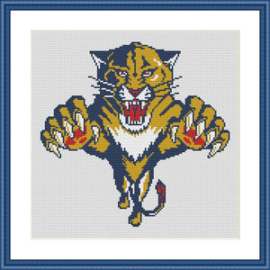 Panther cute animals cross stitch pattern