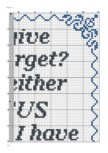 Forgive and forget funny quote cross stitch pattern