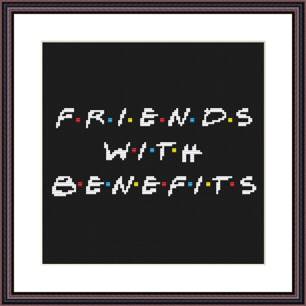 Friends with benefits funny cross stitch pattern