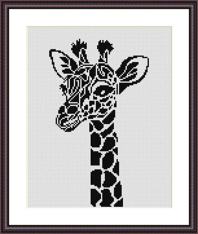 Giraffe cross stitch pattern