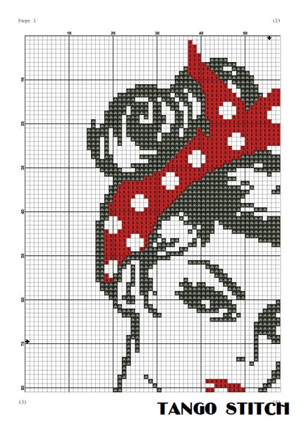 Girl power feminist cross stitch pattern