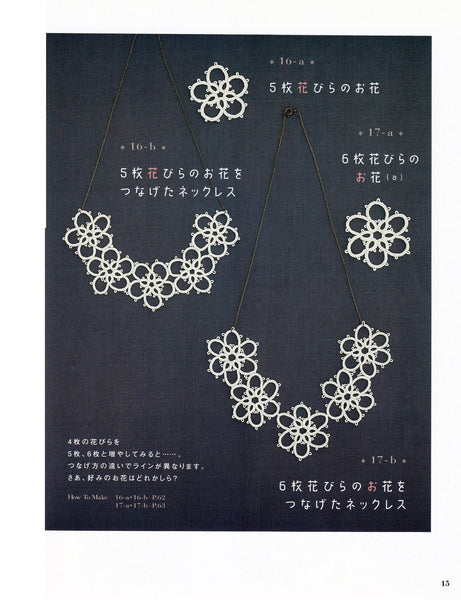 Tatting lace patterns and designs
