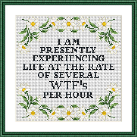I am presently experiencing life funny sassy cross stitch pattern