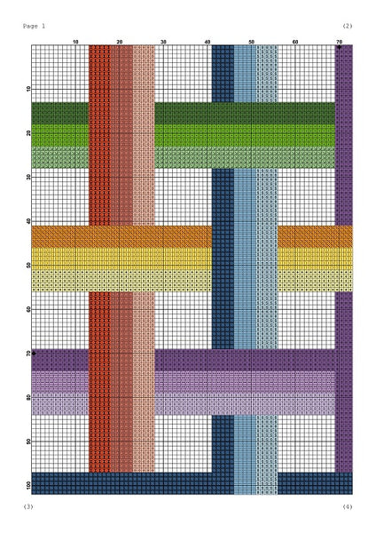 Easy geometric cross stitch pattern