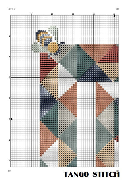 Letter M and cute bee nursery cross stitch pattern, Tango Stitch