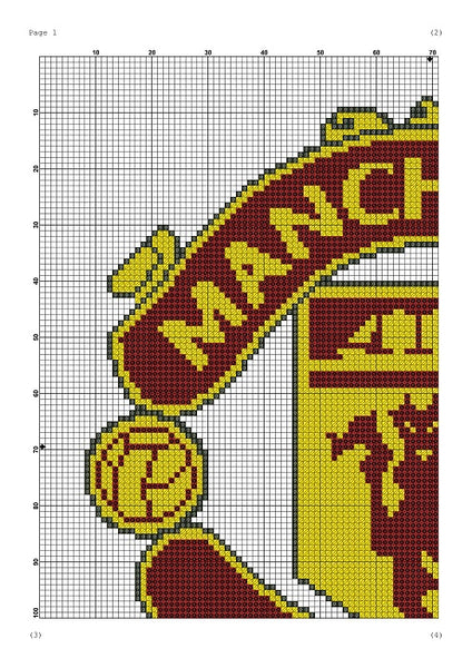 Manchester United cross stitch pattern