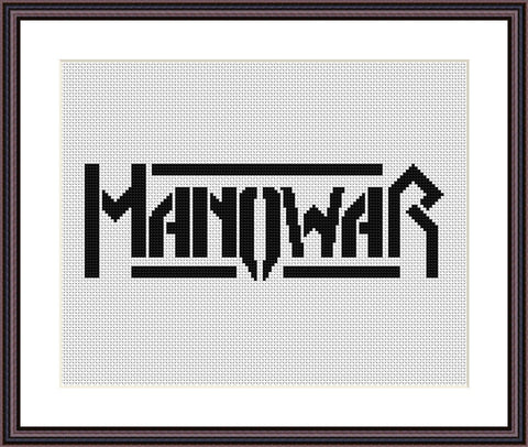 Manowar cross stitch pattern