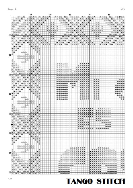 Mi casa es su casa cross stitch ornament pattern