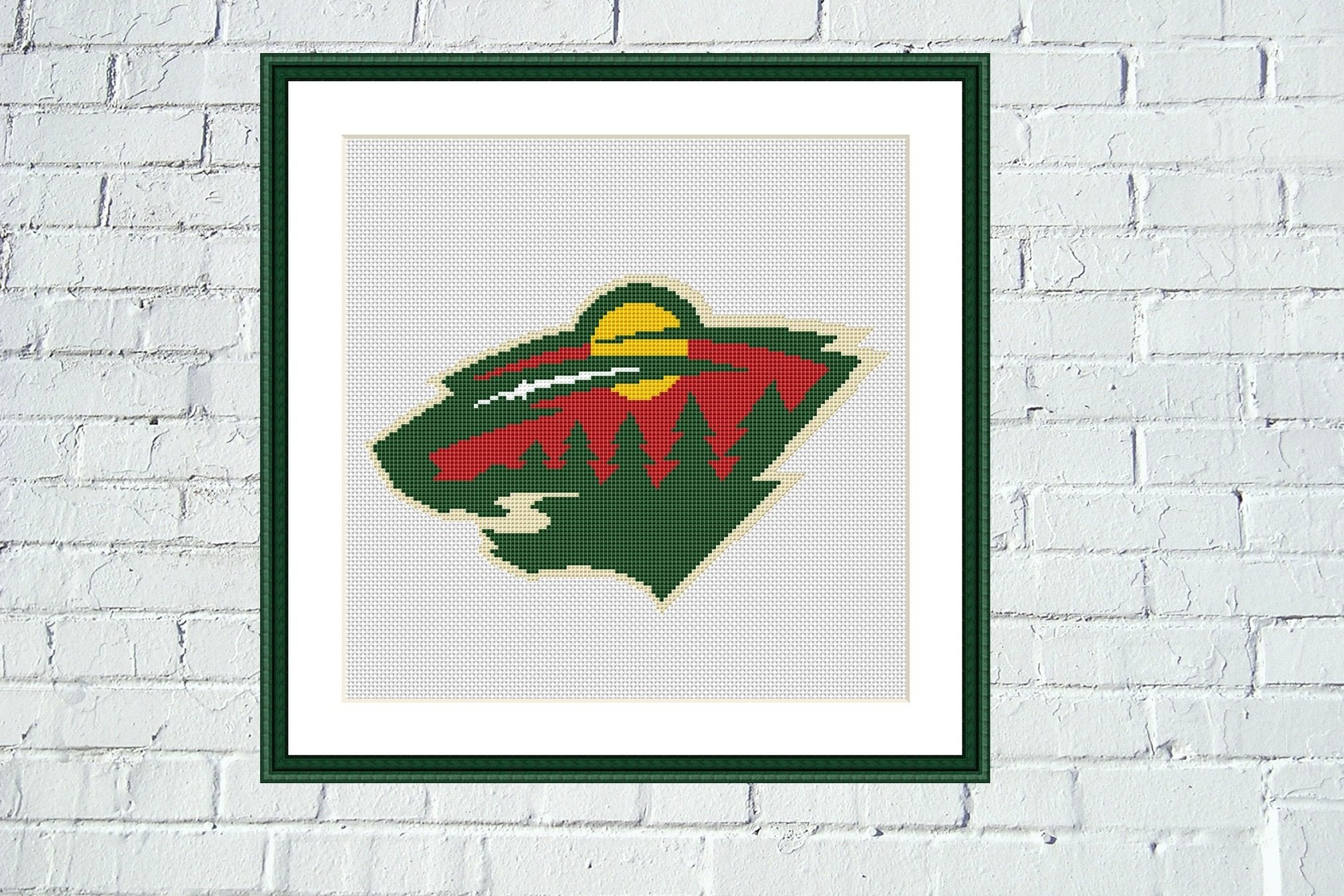 Minnesota Wild cross stitch pattern