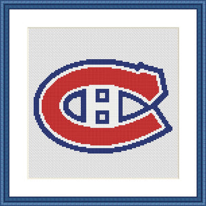Montreal Canadiens cross stitch pattern