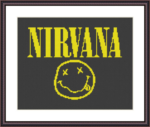 Nirvana cross stitch pattern
