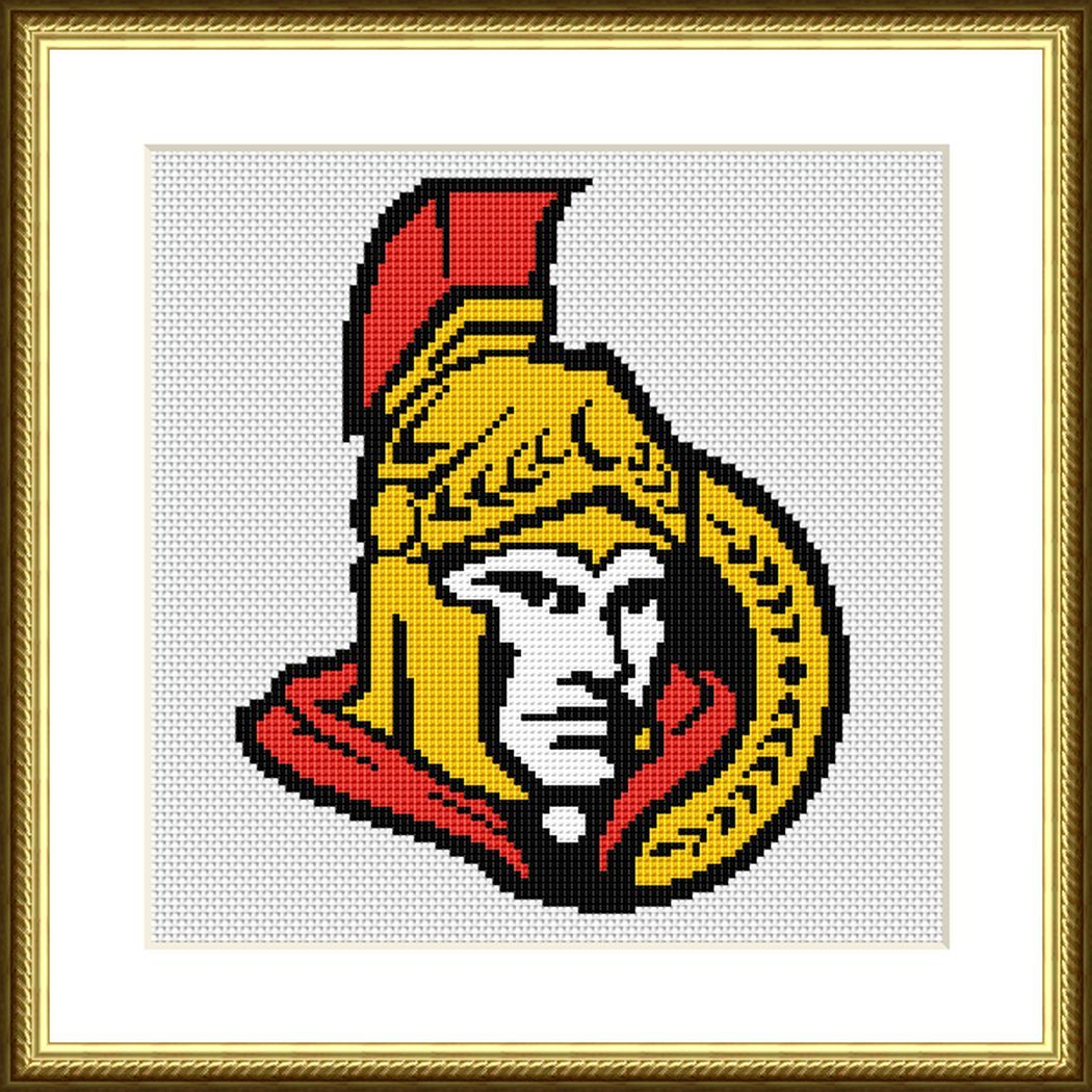 Ottawa Senators cross stitch pattern