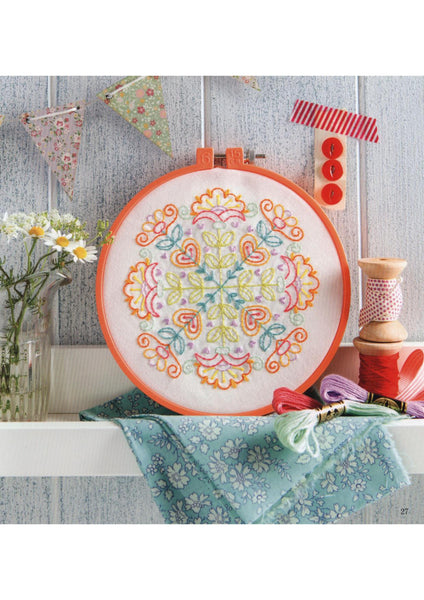 Colorful mandala stitching embroidery