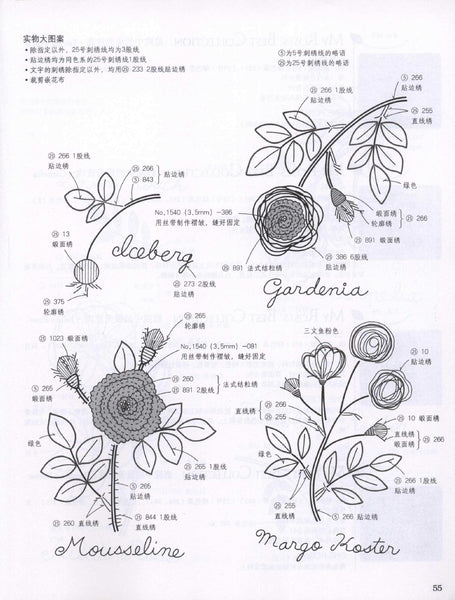 Rose stitch embroidery simple designs
