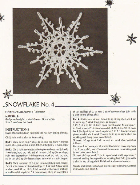 Crochet Christmas ornaments snowflake patterns 16 cute vintage designs