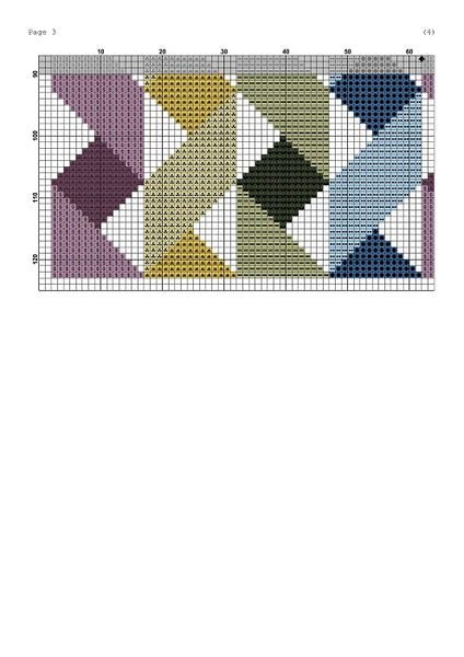 Ribbons geometric cross stitch pattern